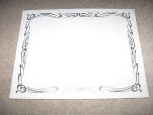 1 pack of St. James Linen Certificates with Deco Silver Foil +