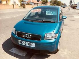 Audi A2 1.4 2002MY Manual Matallic Blue FSH MPV