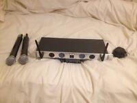 Kam rack mountable wireless mics