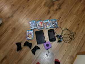 Wii U with games and accessories