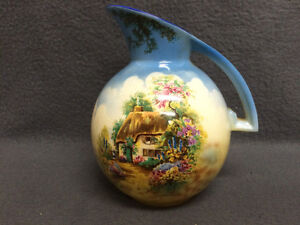 Collectible Antique Beautiful Falcon Ware Pitcher