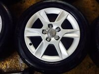 "16"" GENUINE AUDI A3 2012 SLINE ALLOY WHEELS WITH 4 MATCHING TYRES"