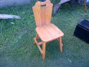 Hand made solid oak dining chairs