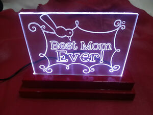 Best Mom Ever LED light