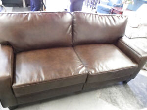 Leather-Like Love seat.