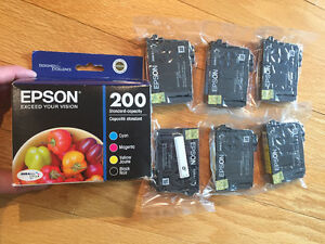 6- Epson 200 ink cartridges