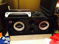 """2X 10"""" INFINITY REFERENCE SUBS WITH JBL AMP"""