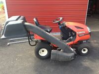 Kubota 17hp ride on lawn mower with bagger
