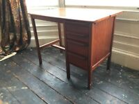 Beautiful Vintage Compact Desk with Drawers and Pull-Out Surface CAN DELIVER