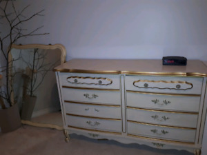 Antique dresser and side table