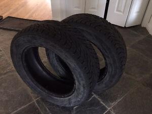 Set of 2 Nokian Hakkapeliitta winter tires 195/60R15 for sale