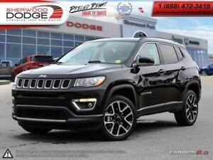 2017 Jeep Compass Limited  LEATHER HEATED SEATS | HEATED WHEEL |