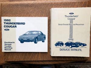 1992 Mercury Cougar Shop Manuals