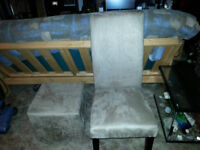 HIGH BACK CHAIR AND  MATCHING SQUARE BOX STOOL ( LIKE NEW )