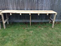 Pallet tables 2 very large - garage/ car boot/ buffet table