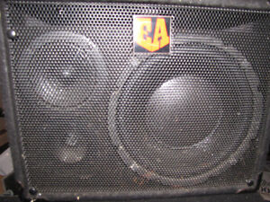 bass cabinets - pair EA VL-110 with roadcase
