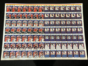 Wayne Gretzky Upper Deck 1999-00 Uncut Sheet Cards