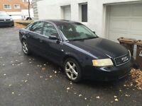 AUDI A6 QUATTRO 3.0 NAVY Blue 2004 for SALE AS IS