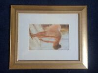 Gold picture frame with ballet dancer and A5 X 3 sized box picture frame.