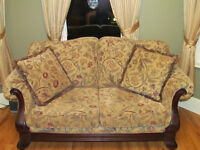 Loveseat with matching chair/plus wing chair