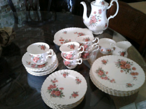 "ROYAL ALBERT ""Centennial Rose ""  Lunch and Tea Service for 6"