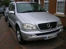 Mercedes-Benz ML350 3.7 Auto 54 Reg Leather A/C 67000 Miles 6 Month Guarantee