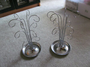 TWO JEWELRY DISPLAY STANDS