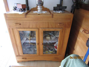 100 yr. old Burch Hutch with Hide Away Silverware Compartment