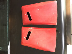 70-81 Camaro Firebird carmine red seat belt covers