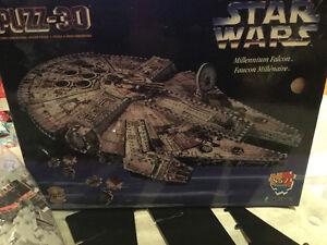 Vintage Wrebbit Millennium Falcon 3-D puzzle Star Wars