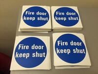 FIRE DOOR STICKERS