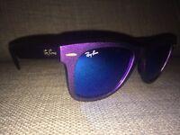 Ray ban wayfarer sunglasses - purple with blue lenses