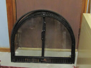 Fireplace doors and insert