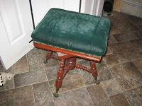 antique piano-organ stool claw feet, very old