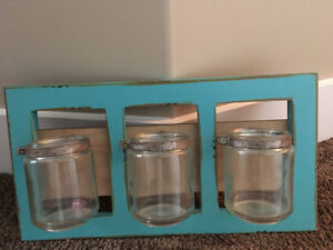 Wall Organizer with Mason Jars