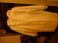 White Faux Fur Ladies Coat