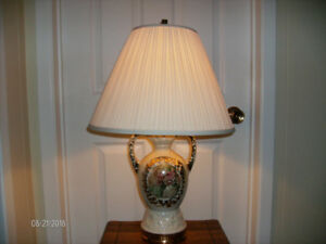 Antique Dresser Lamp with Shade