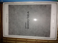 SamsungTab-A -16gb white with armour case $220