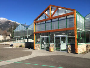Commercial Greenhouse in Beautiful Canmore Alberta