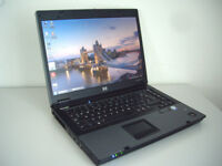 "Poss2Deliver - HP Compaq Laptop - 15"" Widescreen - Intel Core2Duo 4.8Ghz - 3Gb Ram - Wifi - DVD-RW"
