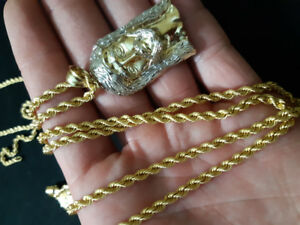 10kt chain and pendant