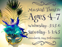 MUSICAL THEATRE CLASSES - ages 4-7 - now booking!!