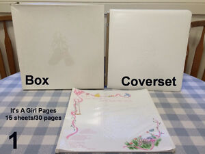 Creative Memories It's A Girl! Baby COVERSET & 20 SHEETS - $15