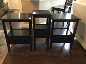 Pier 1 Anywhere Collection  Black End Tables and Pedistall Table