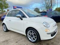 2012 Fiat 500 1.2 LOUNGE 3d 69 BHP * FULL LEATHER * PAN ROOF * SAT NAV * EXCELLE