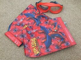 Spider-Man armbands and googles