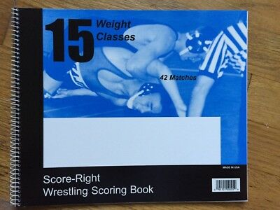 Score-Right Wrestling Scoring Book
