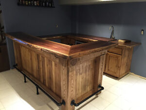 hand crafted timber frame islands and bars