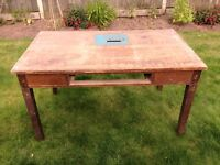 Old Workbench table with removable legs