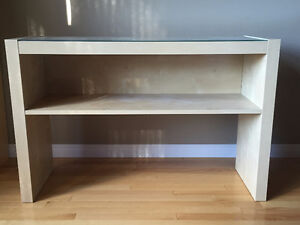 *Like New* Sofa Table with Glass Tabletop